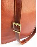 Фотография Коричневая мужская сумка на плечо с клапаном Newery N4227GCR
