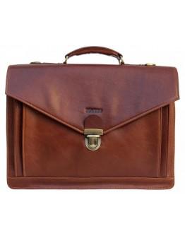 Мужской рыжий кожаный портфель Newery N4572GCR