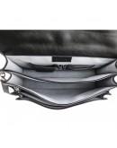 Фотография Кожаный черный вместительный мужской портфель Newery N4572NG