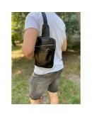 Фотография Мужская сумка на плечо - слинг черная NEWERY N6896GA