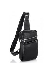 Мужская сумка на плечо - слинг черная NEWERY N6896GA