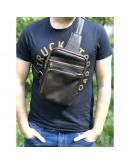 Фотография Мужская сумка на плечо - слинг коричневая Newery N6896GC