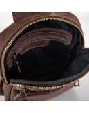 Фотография Мужская винтажная сумка на плечо - слинг Newery N6896KC