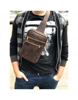 Мужская винтажная сумка на плечо - слинг Newery N6896KC