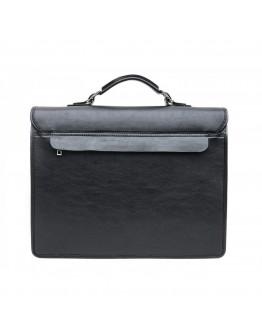 Черный мужской кожаный солидный рюкзак Newery N7164GA