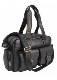 Кожаная вместительная мужская сумка с ручками Newery N7381GA