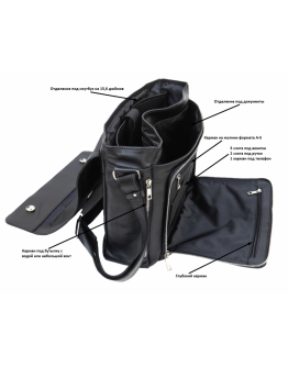 Большая кожаная мужская сумка через плечо Newery N8128GA
