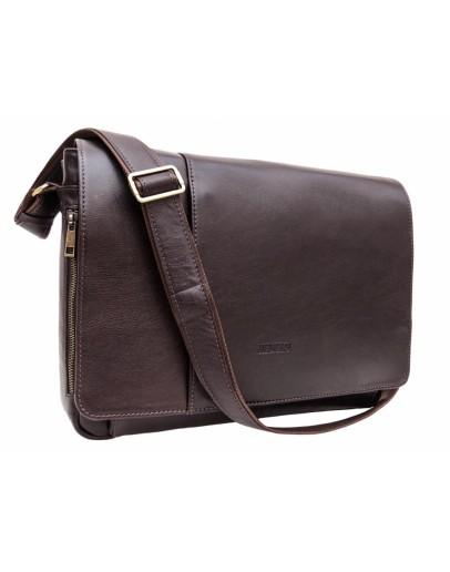 Фотография Большая коричневая сумка на плечо Newery N8128GC