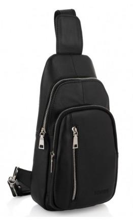 Черный кожаный мужской слинг Newery N9012GKA