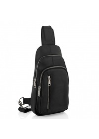 Черный винтажный кожаный мужской слинг Newery N9012KGA