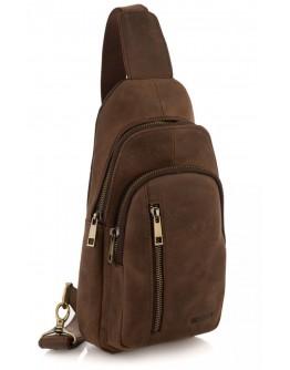 Коричневый кожаный мужской винтажный слинг Newery N9012KGC