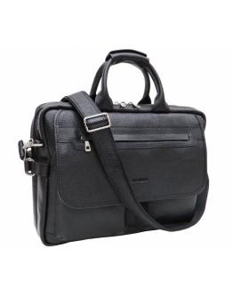 Черный мужской портфель в натуральной коже флотар Newery N9523FA