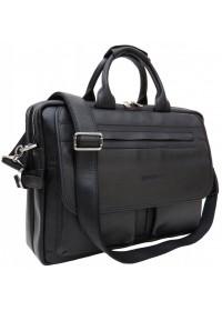 Кожаный черный мужской портфель Newery N9523GA