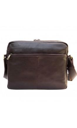 Кожаная черная мужская сумка на плечо 71044A