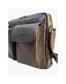 Фотография Мужская коричневая сумка формата А4 Newery N9812GC