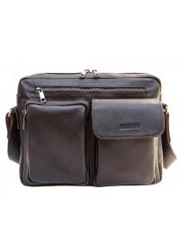 Мужская коричневая сумка формата А4 Newery N9812GC