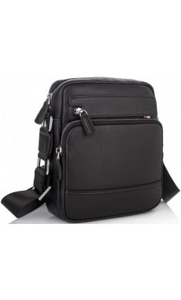 Черный мужской кожаный мессенджер NA50-8113A