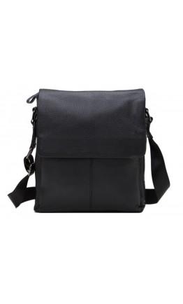 Кожаный мужской мессенджер, черный цвет A25-8871A
