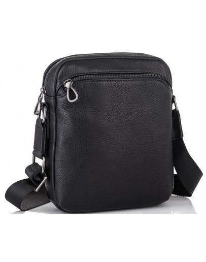 Фотография Черная мужская кожаная сумка Tiding Bag SM8-9686-4А