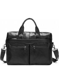 Удобный и добротный мужской кожаный портфель 77122A-3