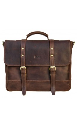 Кожаный коричневый портфель Tarwa RC-0001-4lx