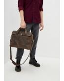 Фотография Кожаная коричневая мужская городская сумка Tarwa RС-1812-4lx
