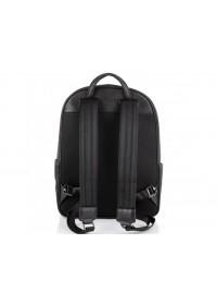 Черный кожаный вместительный рюкзак NM11-166A