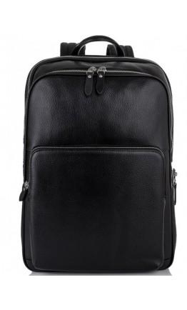 Рюкзак черный мужской кожаный Tiding Bag NM11-184A
