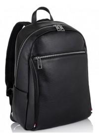 Рюкзак кожаный черный Tiding Bag NM11-7523A