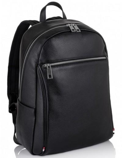 Фотография Рюкзак кожаный черный Tiding Bag NM11-7523A