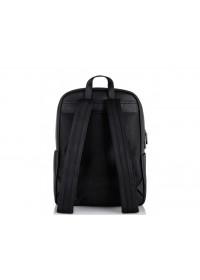 Мужской кожаный черный рюкзак NM11-7534A