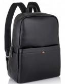 Фотография Мужской кожаный черный рюкзак NM11-7534A
