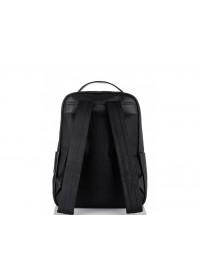 Рюкзак деловой кожаный черный Tiding Bag NM11-7537A