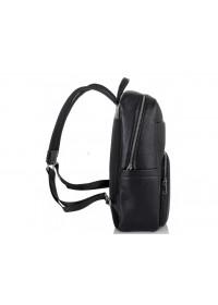 Черный рюкзак из натуральной кожи Tiding Bag NM18-003A
