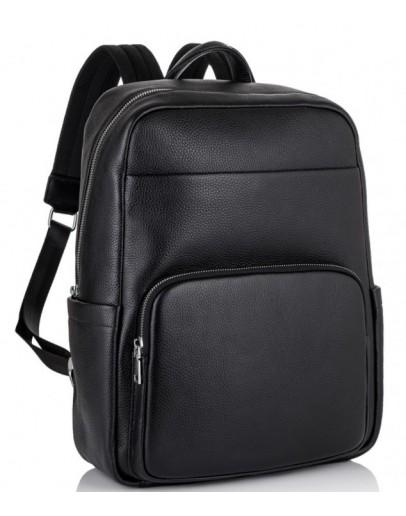 Фотография Черный рюкзак из натуральной кожи Tiding Bag NM18-003A