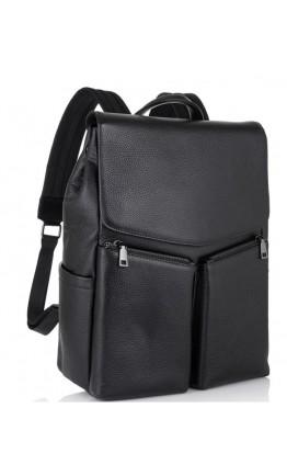 Мужской рюкзак кожаный черный Tiding Bag NM18-004A