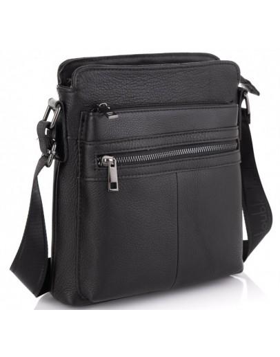 Фотография Сумка черная на плечо кожаная Tiding Bag NM20-0101A