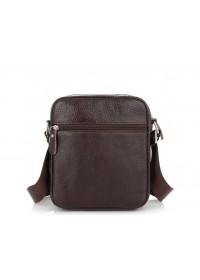 Кожаная коричневая небольшая сумка Tiding Bag NM20-2610DB