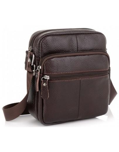 Фотография Кожаная коричневая небольшая сумка Tiding Bag NM20-2610DB