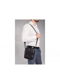 Черная мужская кожаная сумка на плечо NM20-6021A