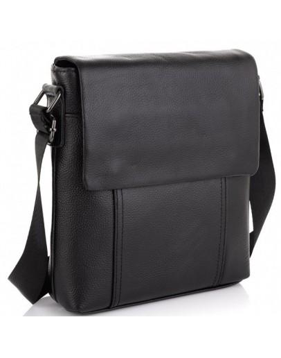 Фотография Черный мужской мессенджер кожаный Tiding Bag NM20-8153A