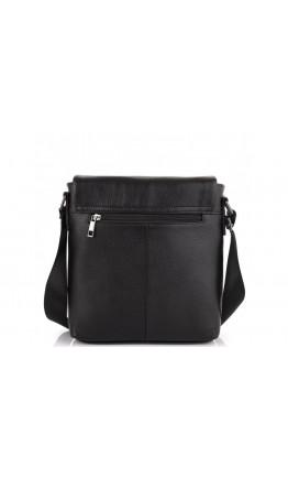 Черный мужской мессенджер кожаный Tiding Bag NM20-8153A