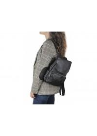 Женский кожаный черный рюкзак Riche NM20-W1031A