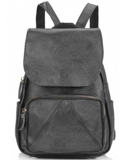 Фотография Женский кожаный черный рюкзак Riche NM20-W1031A