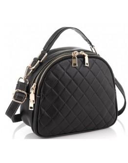 Кожаная черная женская сумка Riche NM20-W323A