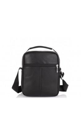 Черная мужская кожаная сумка - барсетка Tiding Bag NM23-2302A
