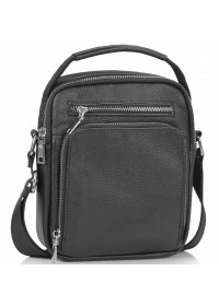 Черная сумка - барсетка кожаная Tiding Bag NM23-2304A