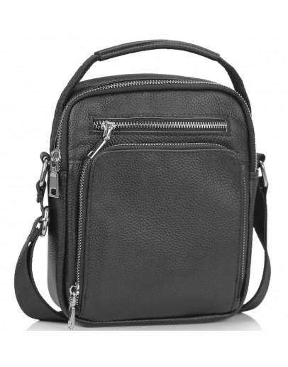 Фотография Черная сумка - барсетка кожаная Tiding Bag NM23-2304A