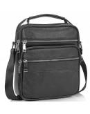 Фотография Сумка черная кожаная барсетка Tiding Bag NM23-2306A