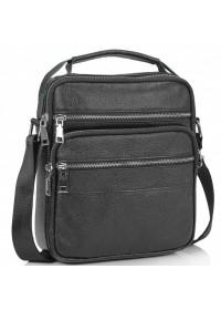 Сумка черная кожаная барсетка Tiding Bag NM23-2306A